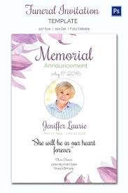 funeral service invitation funeral announcement template card invitation ideas celebration