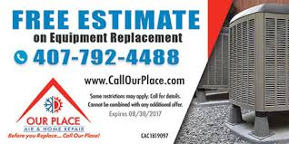 Free Estimate For Air Conditioning Repair by Air Conditioner Repair Orlando Our Place Air Home Service