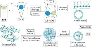 preparation of silica aerogels using ctab sds as template and