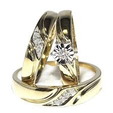 wedding ring sets his and hers cheap cheap wedding ring sets for his and 1 carat trio wedding rings