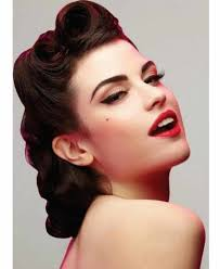 vintage updo hairstyles for long hair gorgeous retro updo