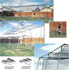 atec 40 u0027 u0026 70 u0027 backyard baseball batting cage baseball equipment