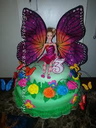 barbie mariposa flower cake