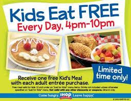 Ihop Thanksgiving Ihop Kids Eat Free In April