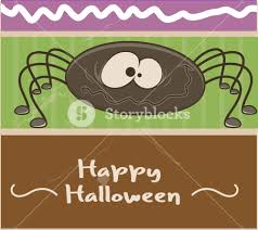 funny halloween spider vector banner royalty free stock image
