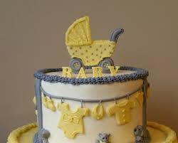 stroller u0026 clothesline baby shower cake topper kit fondant