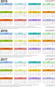 mini calendar template three year calendars for 2015 2016 2017 uk for excel