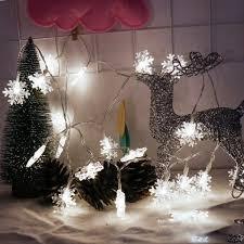 white light 2m 20 led snowflake lights battery powered string