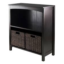 large storage shelves amazon com winsome terrace 3 piece storage shelf bookcase 26 by