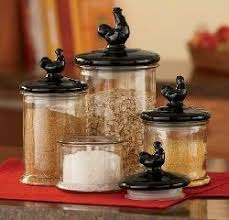country kitchen canisters sets 185 best rooster kitchen decor images on rooster decor