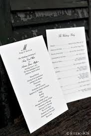 black and white wedding programs black white and green chair programs villasiena cc