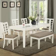 white table with bench dining room remarkable bench dining room table pieces dinette with