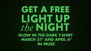 light up the night get a free glow in the dark t shirt youtube