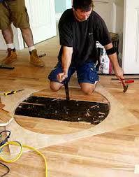 Hardwood Floor Removal Installing Hardwood Floor Medallions Series