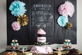 chalkboard wrapping paper e s pink aqua and gold 1st birthday party project nursery