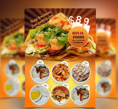menu flyer template restaurant food menu flyer template psd free