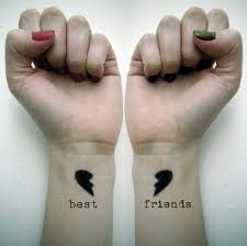 friendship heart heart friendship tattoo and designs