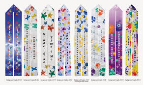 personalized graduation stoles kindergarten graduation ideas post includes custom sashes as an