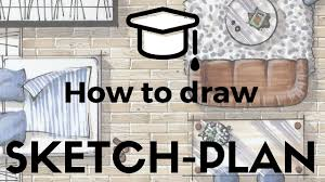 How To Draw A Simple Floor Plan How To Draw Sketch Plan W Markers In 10 Steps And 30 Minutes