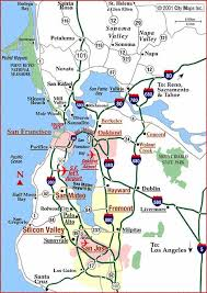 map of san francisco area road map of san francisco bay area san francisco california