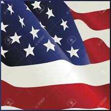 Waving American Flag Waving American Flag Bandana Design Royalty Free Cliparts Vectors
