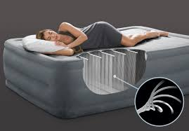 22in queen dura beam comfort plush high rise airbed with built in
