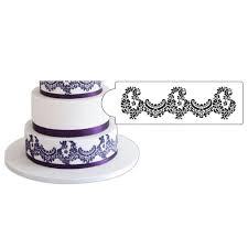 Alencon Lace Cake Decorating Stencil by Designer Stencils