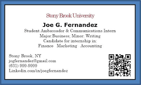 student business cards what to include student business card