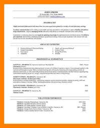 Pharmacy Resume Template 11 Pharmacy Cv Example Care Giver Resume