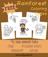 free coloring page of the rainforest free rainforest coloring sheets 92 pages