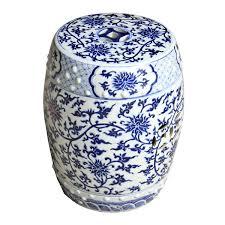 blue and white porcelain garden stool blue and white porcelain