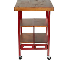 oasis wood top folding kitchen cart page 1 qvc com