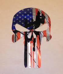 American Flag Skull Skull Lineman With Usa Flag Head 12x8 Custom Steel Signs And
