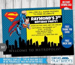 superman birthday invitation template templatemansion deviantart