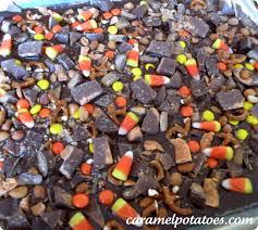 caramel potatoes halloween candy bark