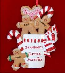 Grandparent Ornaments Personalized Christmas Mantel And Stockings 4 Grandkids Tabletop Baby Ornament
