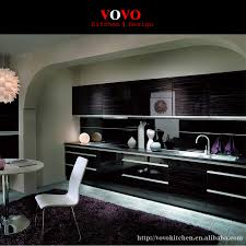 zebra wood kitchen cabinets best quality high gloss wood grain laminate kitchen cabinets in