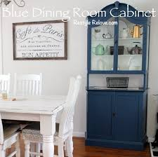 blue dining room cabinet