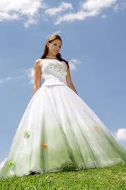 green wedding dress white and mint green wedding dress colorful wedding dresses