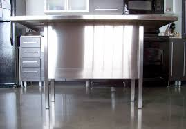 Concrete Kitchen Island by Kitchen Best Stainless Steel Kitchen Island Intended For