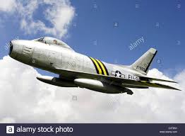 1950s korean war era f86 sabre jet fighter plane of the usaf stock