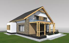 modern house design with attic elevated bungalow with attic home design regard to house photos