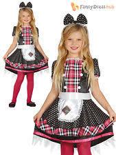 childs girls rag broken killer doll zombie halloween fancy dress