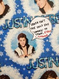 justin bieber wrapping paper i decided to get justin bieber wrapping paper for my family this