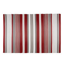 Orange And White Striped Rug Espelette Red And White Striped Fabric Outdoor Rug 180 X 270 Cm