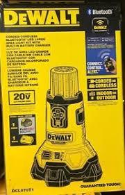 dewalt 20v area light dewalt dcl070t1 20 v max corded cordless bluetooth led large area