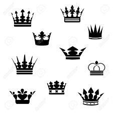small black crowns tattoos designs