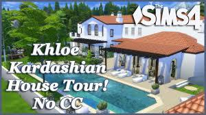 the sims 4 khloe kardashian mansion no cc house tour youtube