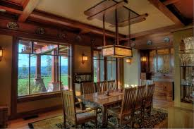 craftsman style dining room table craftsman inspired residence projects ward young architecture