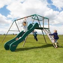 Flexible Flyer Backyard Swingin Fun Metal Swing Set Swing Sets U0026 Playsets You U0027ll Love Wayfair